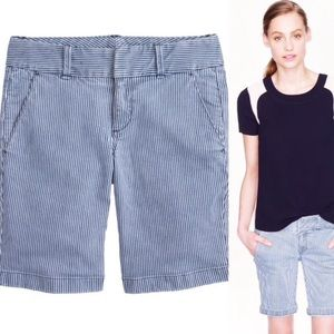 J. Crew Andie Striped Bermuda Shorts
